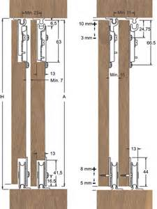 saheco sf 51 bottom rolling wardrobe kit sliding doorstuff