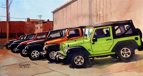 acrylic painting of jeep it s a jeep thing painting by spencer meagher