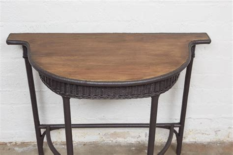 Small Wicker Table by Small Wicker Console Table For Sale At 1stdibs