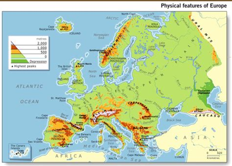 physical maps of europe grade 7 physical geography of europe mr cozart