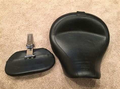 fs mustang wide vintage seat backrest harley