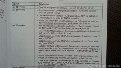 Inspektion Auto Was Wird Gemacht by Auszug Serviceheft 30 000 Km Inspektion Was Wird