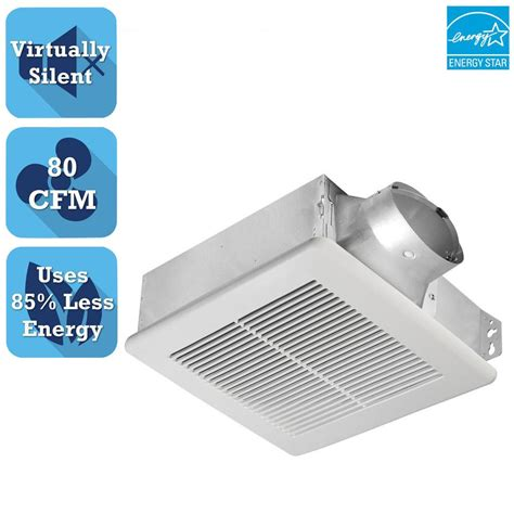 panasonic bathroom fan with led light compare panasonic whisper 80 cfm fan led light bathroom