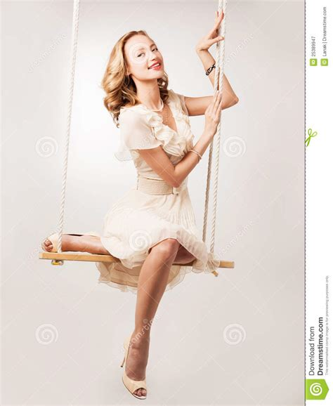 swing woman woman on a swing royalty free stock photography image
