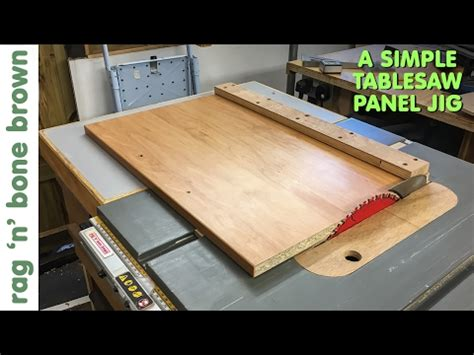 Wood From Home Simple Panel Cutting Jig For Dewalt Dw745