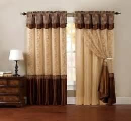 Brown Curtains One Piece Window Curtain Drapery Sheer Panel Chocolate