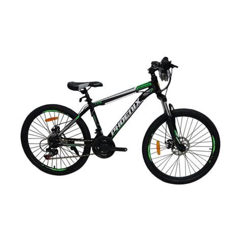 Sepeda Mtb 24 Cakram jual 172 sepeda mtb black green 24 inch