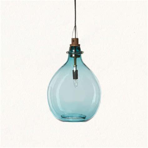 Tropical Pendant Lighting with Glass Jug Pendant Tropical Pendant Lighting By Terrain