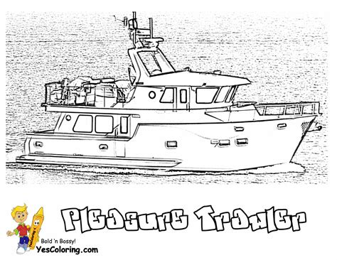 recreational trawler boats coolest boat printables free boat coloring pages