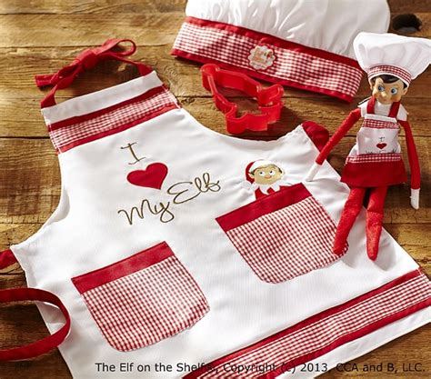 On The Shelf Apron Set by The On The Shelf 174 Cooking Set Pottery Barn