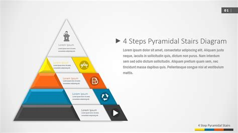 7 step 4 layers circular diagram for powerpoint slidemodel 4 steps pyramidal stairs powerpoint diagram slidemodel