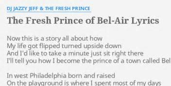 the fresh prince of bel air lyrics quot the fresh prince of bel air quot lyrics by dj jazzy jeff
