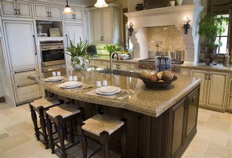 kitchen design with island 39 fabulous eat in custom kitchen designs