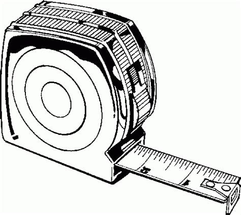 tapemeasure coloring page coloring pages