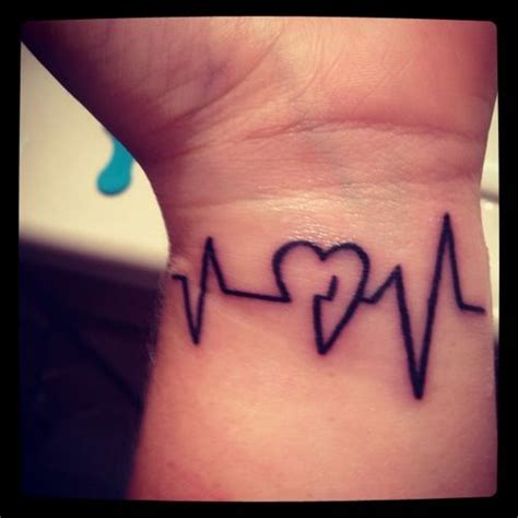 heart with heartbeat tattoo beat tattoos i like beats