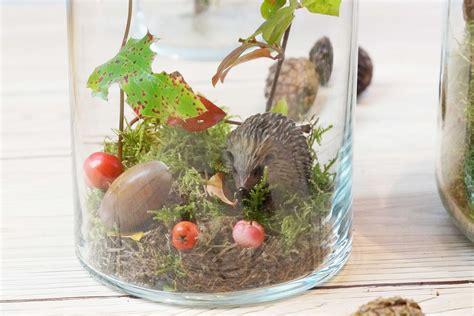 Herbstdeko Aus Dem Wald by Diy Herbstwald Im Glas Tantedine