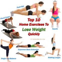 Home exercises to lose weight quickly