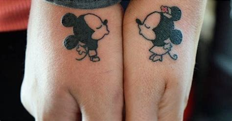 tattoo couples facebook disney couple tattoos popsugar love sex
