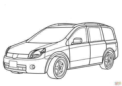 nissan cars coloring pages nissan coloring pages coloring nissan lafesta minivan coloring page free printable