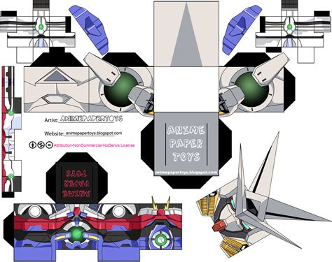 Gundam Papercraft Template - all sizes gn 001 gundam exia mobile suit gungam 00