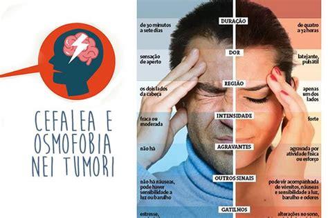 cefalea e alimentazione cefalea e osmofobia nei tumori malattie cure ricerca