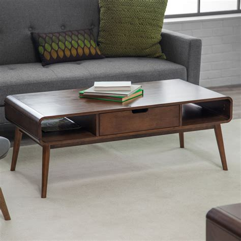 Coffee Table Desk Belham Living Mid Century Modern Coffee Table Coffee Tables At Hayneedle