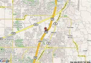 map of hton inn suites dallas allen tx allen
