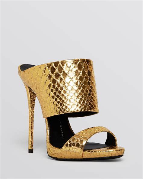 giuseppe zanotti high heels lyst giuseppe zanotti slide mule evening platform