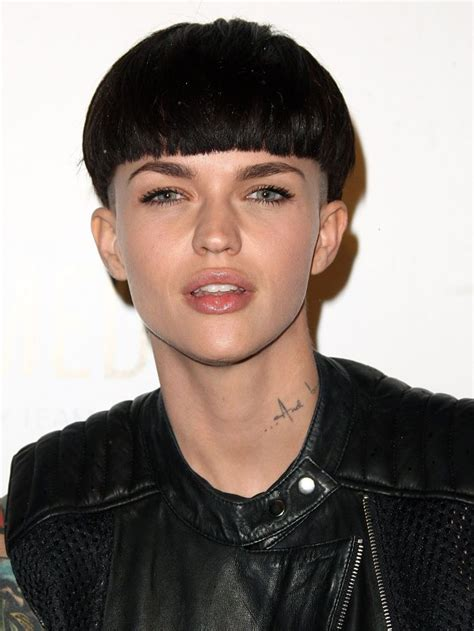 ruby rose    rethinking  bowl cut