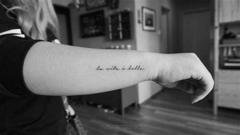 la bella vita tattoo best 25 italian quote tattoos ideas on