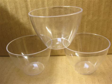 small plastic bowl 100 small plastic round mini bowl holder container party