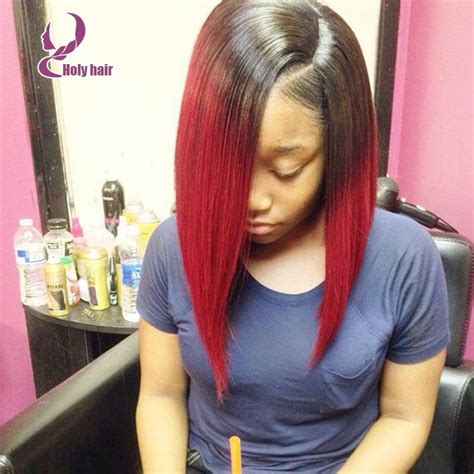 straight hair sew in red hair k michelle styles ombre glueless u part human hair wigs top quality 8a