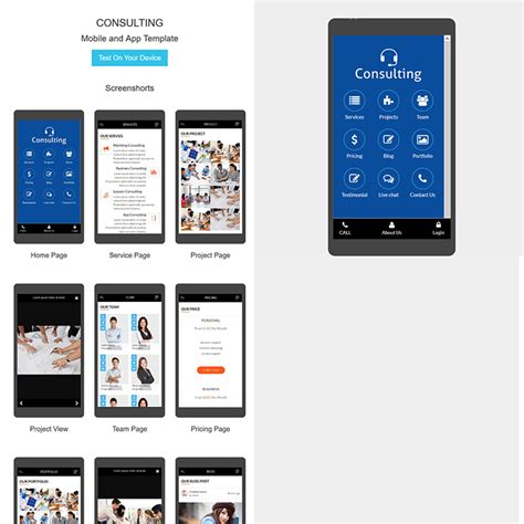 Mobile Template Free by Consulting Html Mobile App Template