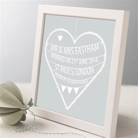 Wedding Prints by Personalised Wedding Print By Modo Creative