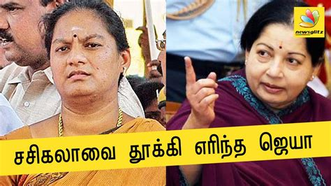 mp tamil latest aiadmk sacks mp sasikala pushpa for slapping trichy siva