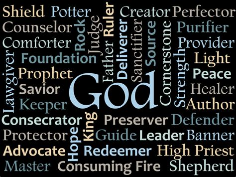god names lesson 2 one god armyofcompassion