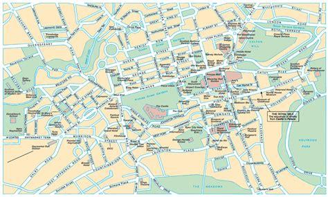 printable maps edinburgh city centre edinburgh street map and guide tourist publications