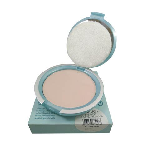 Bedak Padat Wardah Isi Ulang jual wardah everyday compact powder light biege