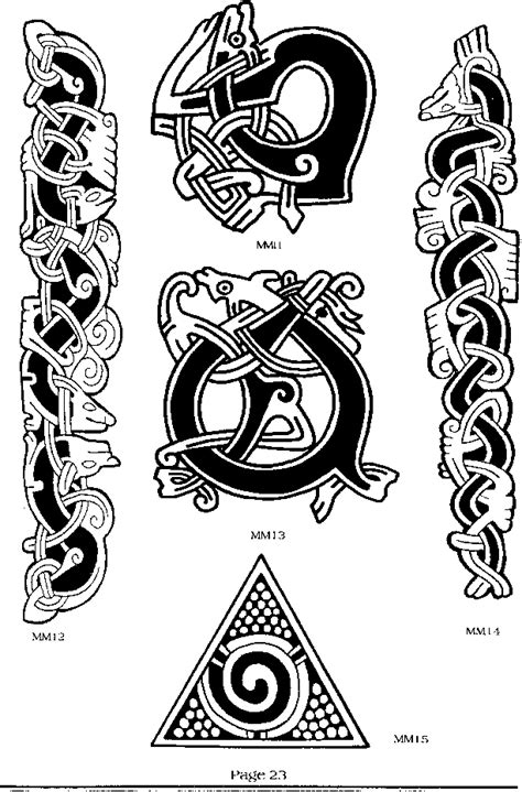 mammen style viking art tattoo magic