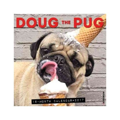 doug the pug book doug the pug 2017 calendar paperback target