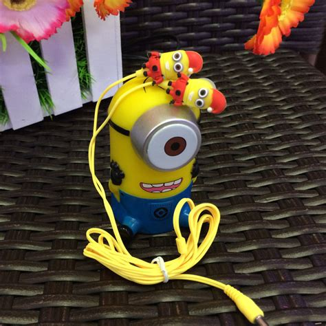 Earphone Minion aliexpress buy free shipping 3 5mm despicable me earphone minions headset for