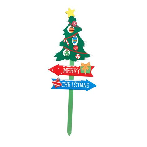 39 quot christmas tree garden stake