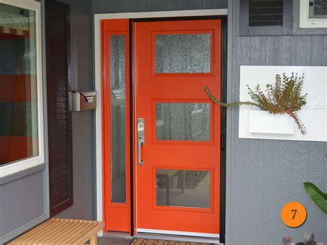 Contemporary Red Entry Door Therma Tru Smooth Star Model Therma Tru Exterior Doors