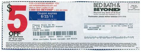 Bed Bath And Beyond In Store Coupon by Bed Bath And Beyond Coupon 5 Bed Bath And Beyond