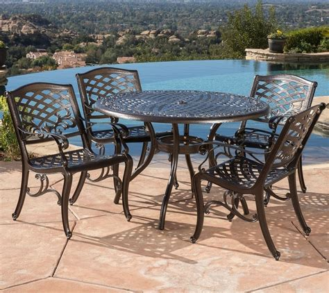 Outdoor Metal Patio Furniture Patio Furniture Sets Clearance Cast Aluminum Best Outdoor Dining 5 Metal Ebay