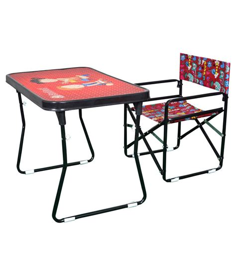 study table and chair steel craft red study table and chair set buy steel