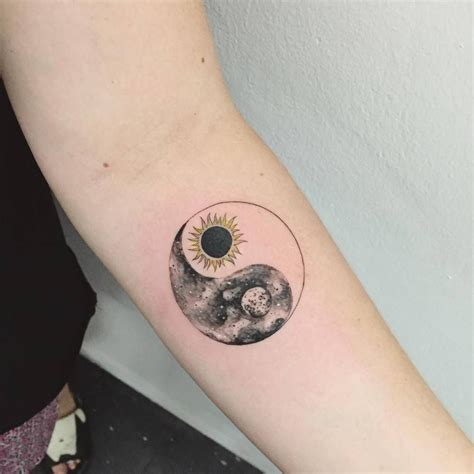 yin yang henna tattoo sun moon yin yang on the forearm artist