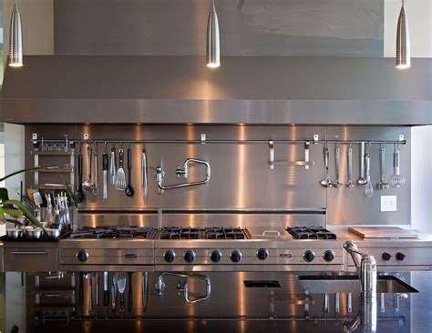 Countertop Stools Kitchen New York Kitchen Shelves Stainless Steel Industrial With Island Lighting Wooden Counter Height