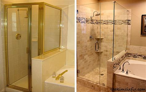 Reveal Shower Door Master Bathroom Reveal 80s To Awesome Shower Pan Frameless Shower And Shower Doors