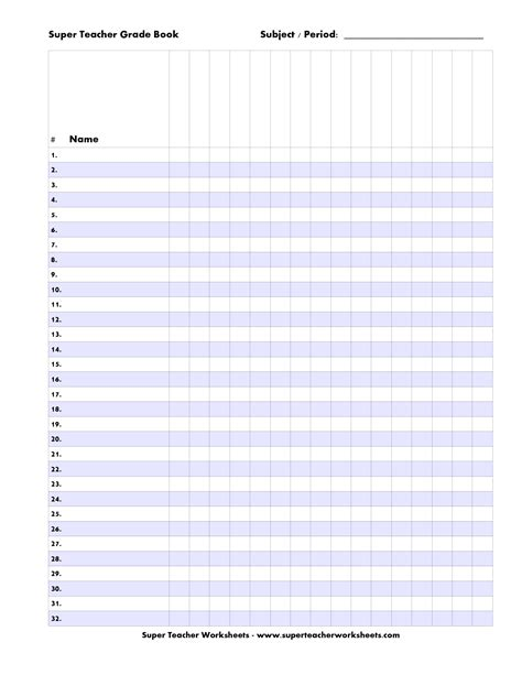 blank gradebook template 9 best images of printable grade sheets for teachers